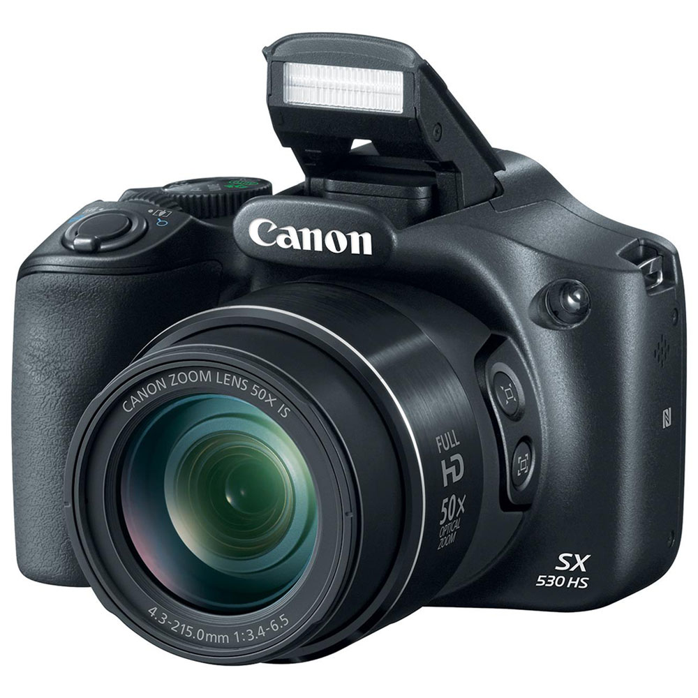 Canon SX530 HS PowerShot Digital Camera with 50x Optical Zoom and Built-in Wi-Fi+32GB Card+Accessories