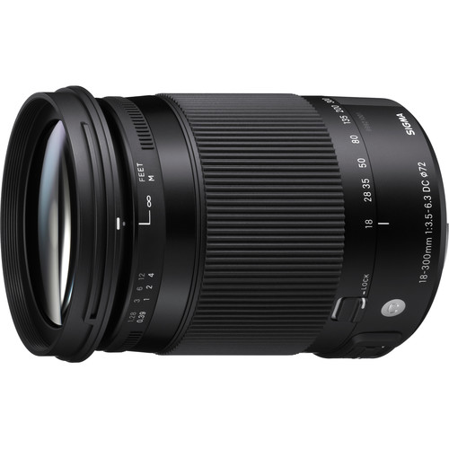Sigma 18-300mm f/3.5-6.3 DC MACRO OS HSM Lens for Canon EF + Top Value Bundle!