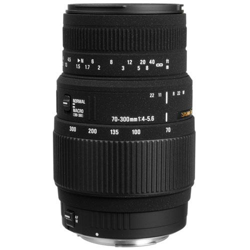 Sigma Zoom Telephoto 70-300mm f/4-5.6 DG Macro Autofocus Lens for Canon EOS (509101)